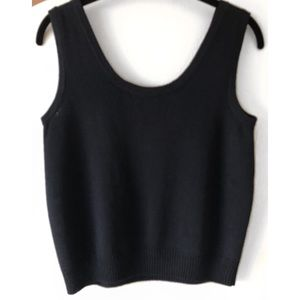 St. John Tops - ST. JOHN BASICS KNITS BLACK TANK SHELL TOP SZ S